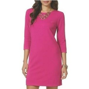 Daisy Fuentes stretchable dress fuchsia size XS